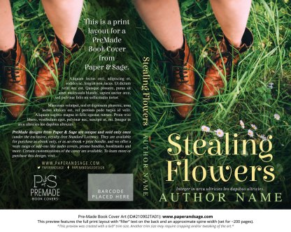 PreMade Book Cover ID#210902TA01 (Stealing Flowers)