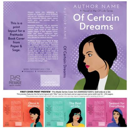 PreMade Series Covers ID#092021SD01 (Of Life Series, Only Sold as a Set)