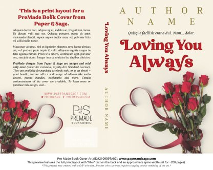 PreMade Book Cover ID#210909TA02 (Loving You Always)