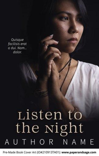 PreMade Book Cover ID#210913TA01 (Listen to the Night)