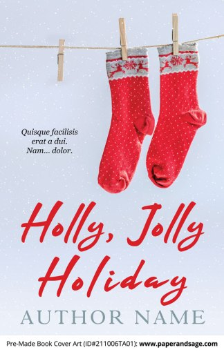 PreMade Book Cover ID#211006TA01 (Holly, Jolly Holiday)