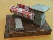 Papercraft recortable y armable de la nave Bulkfreighter de Star Wars. Manualidades a Raudales.