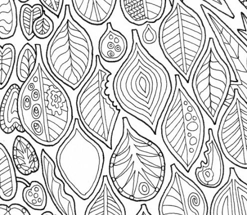 Leaf shapes (detail) from Bimblebox Wonderland.