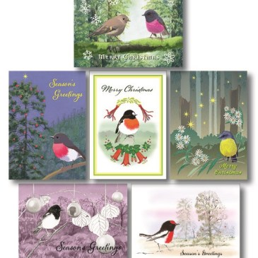 New! Australian Robin Christmas cards