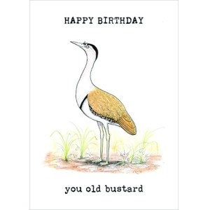 Happy birthday bustard card