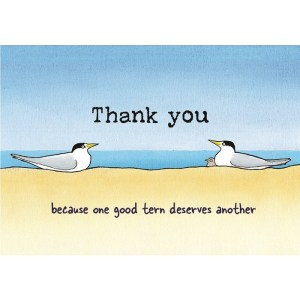 Thank you terns card