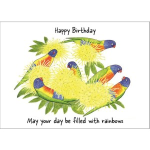Birthday rainbows card