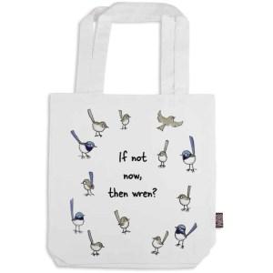 Fairy-wren Organic Cotton Tote Bag