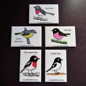Australian Robin fridge magnet collection