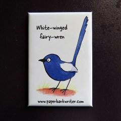 White-winged Fairy-wren fridge magnet