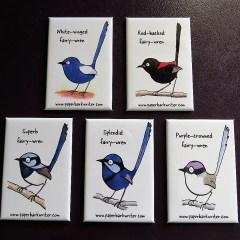 Australian Fairy-wren fridge magnet collection