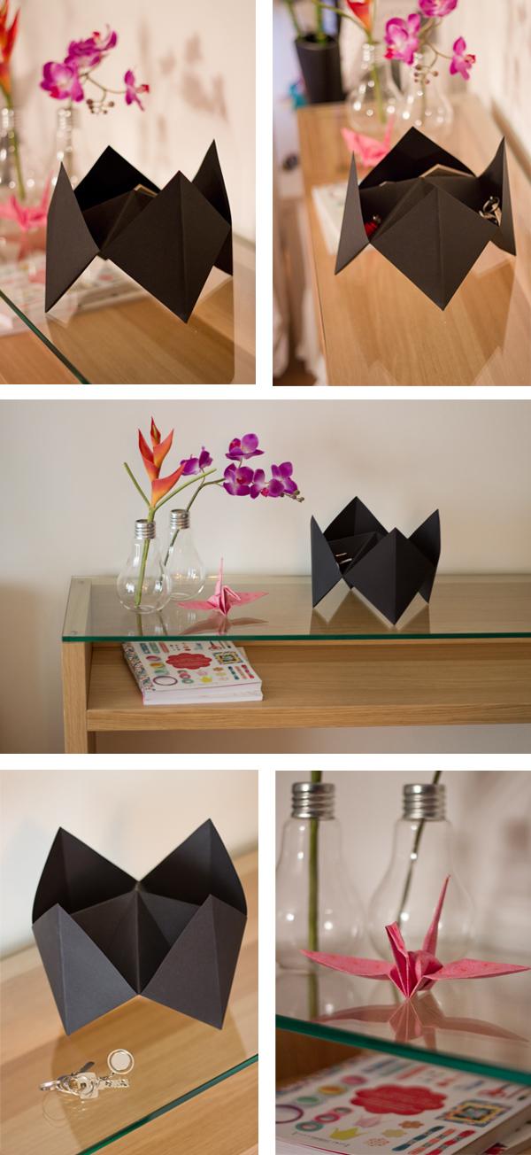 Vide poche origami cocotte