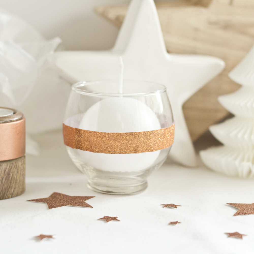 Table de Noël cuivrée - www.paperboat.fr