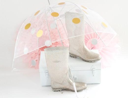 DIY parapluie à pois dorés - www.paperboat.fr