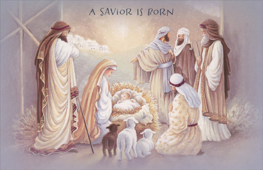 A Savior Is Born Box Of 14 Religious Christmas Cards By