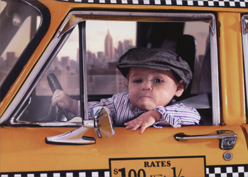 Grumpy Baby Taxi Driver Funny Birthday Card By Avanti Press