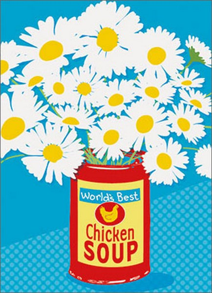 Soup Can Of Flowers A Press Get Well Card By Avanti Press