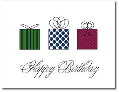 Mini Birthday Presents Box Of 25 Personalized Business