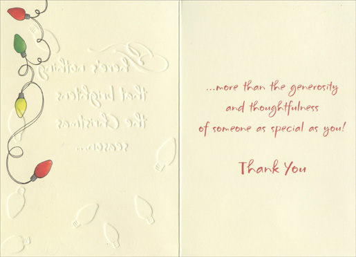 Christmas Lights Christmas Thank You Note Cards 8 Pack