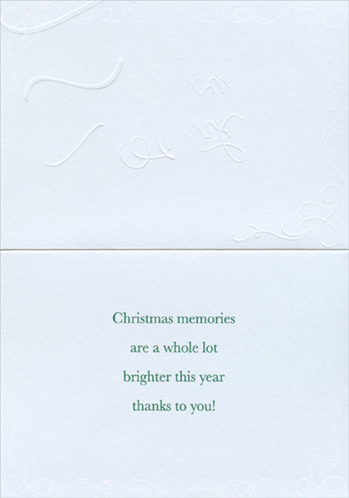 Sparkling Tree Package Of 8 Christmas Thank You Notes By