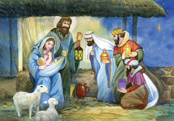 Three Kings Bearing Gifts Box Of 18 Religious Christmas