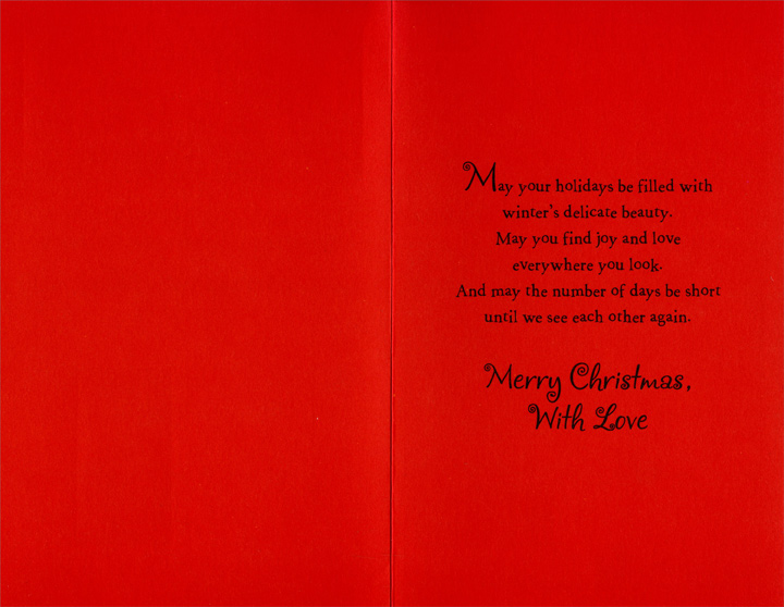Across The Miles Christmas Card By Freedom Greetings