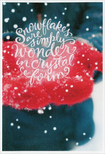 Snowflakes And Red Mittens Boutique Box Of 16 Christmas