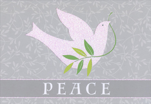 Glitter Dove Christmas Card By Image Arts