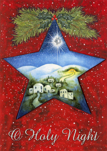 Holy Night Star Box Of 12 Religious Christmas Cards By LPG