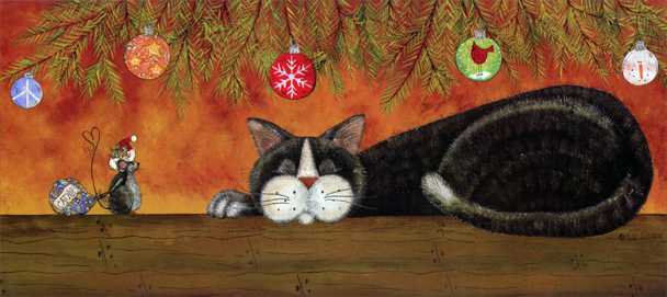 Unexpected Gifts Of Kindness Cat Christmas Card By LPG