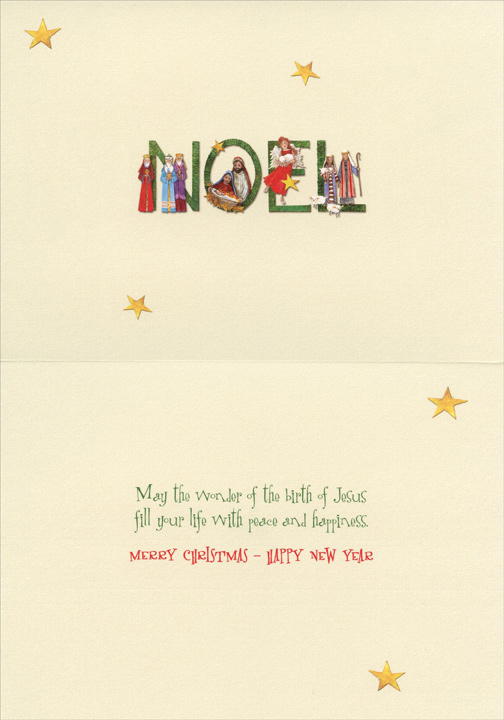 NOEL Carolyn Shores Wright Religious Christmas Card By
