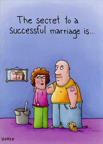 Successful Marriage Funny Humorous Wedding Anniversary