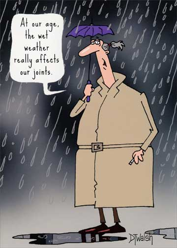 Weather Affects Joints Funny Humorous 60th Birthday Card