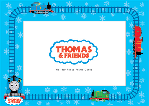 Thomas The Tank Engine Photo Holder Holiday Card By