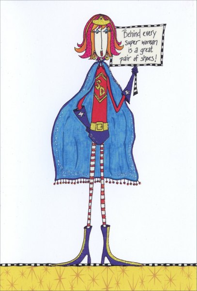 Super Woman Dolly Mama Funny Humorous Birthday Card By