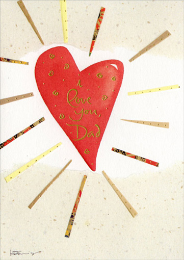 Red Heart Fathers Day Card By Recycled Paper Greetings