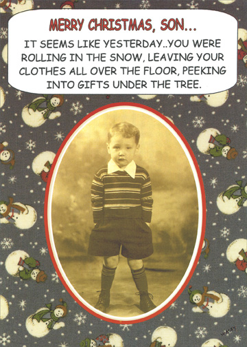 Seems Like Yesterday Funny Humorous Christmas Card By