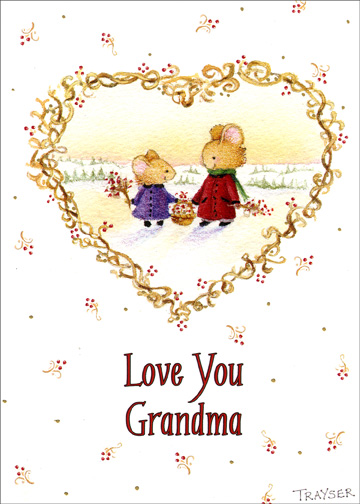 Love Your Grandma Christmas Card By Recycled Paper Greetings