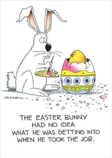 Easter Bunny Had No Idea Funny Humorous Easter Card By Recycled Paper Greetings