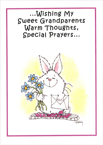Warm Thoughts Special Prayers Easter Card By Recycled