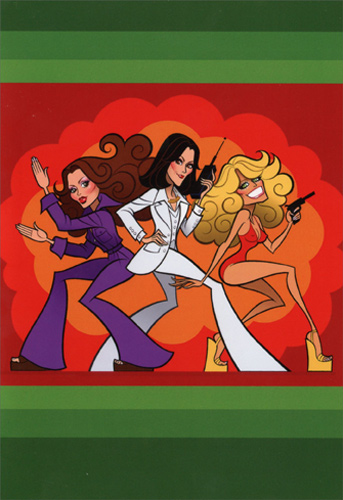 Charlies Angels Box Of 12 Funny Christmas Cards By