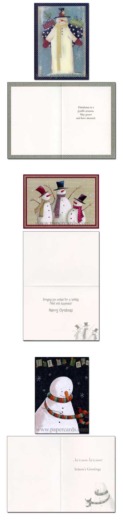 Let It Snow Keepsake Assortment 21 Cards Amp 21 Envelopes