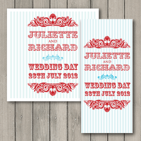 Carnival Wedding Invite - DL and Square format