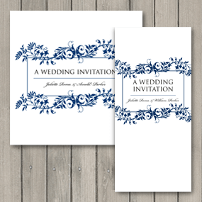 Flourish Wedding Invite - DL and Square format