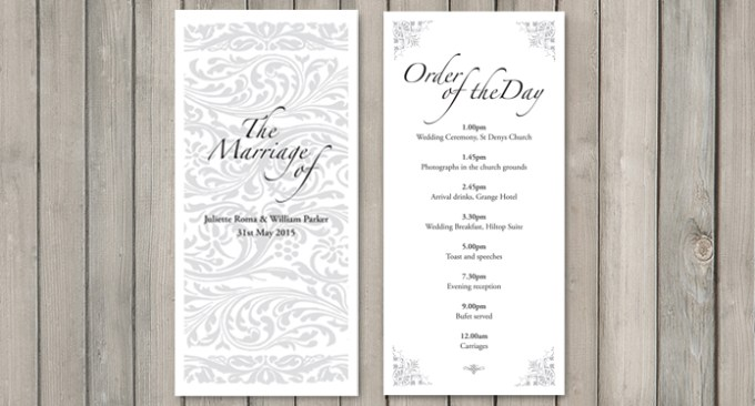 Elegance wedding stationery