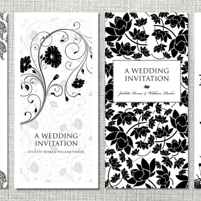 Stunning Black and White Wedding Stationery and Wedding Invitations