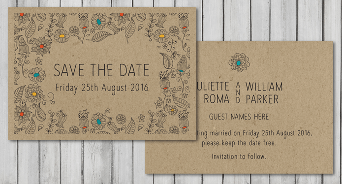 Natural eco friendly Wedding Stationery