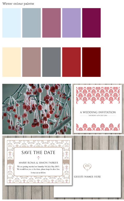 Winter Wedding Stationery