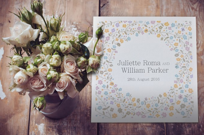 Sparkle Square Wedding invitation
