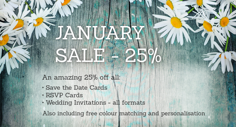 Wedding Invitation January Sale